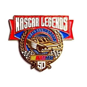 NASCAR Legends 50th Anniversary 1998 Lapel Pin
